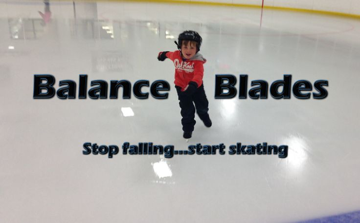 New childrens ice skates designed to prevent rear falls.