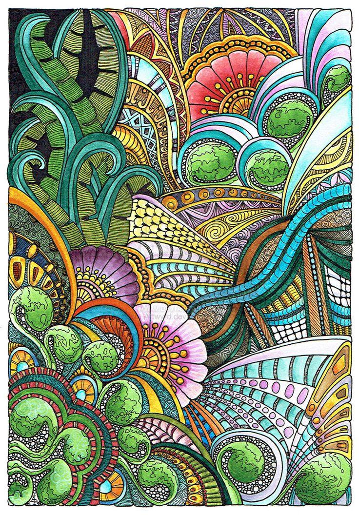 Floral Fantasia 31 July 2014 by Artwyrd on DeviantArt