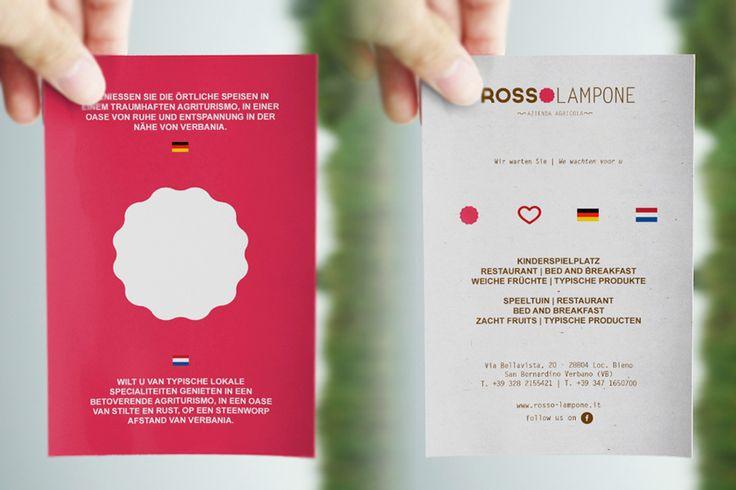 Cartolina promozionale Rosso Lampone Agriturismo