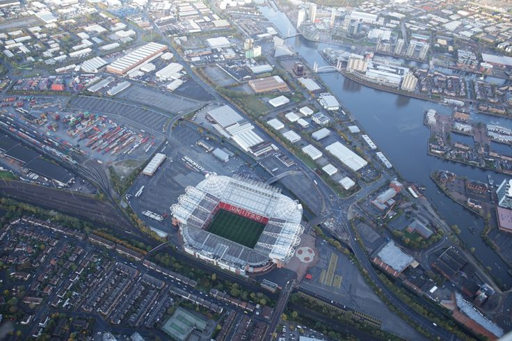 This aerial shot of Old Trafford gives a great view of @manutd's Theatre of Dreams.