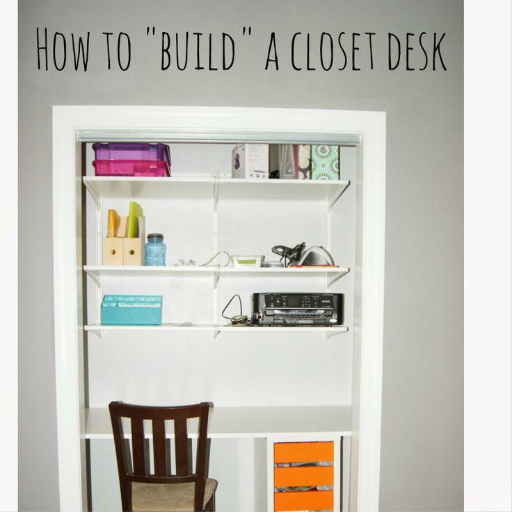{projects} Building a Closet Desk