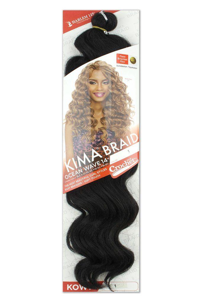 "Harlem125 Kima Synthetic Crochet Braiding Hair Ocean Wave 14"" Pack"