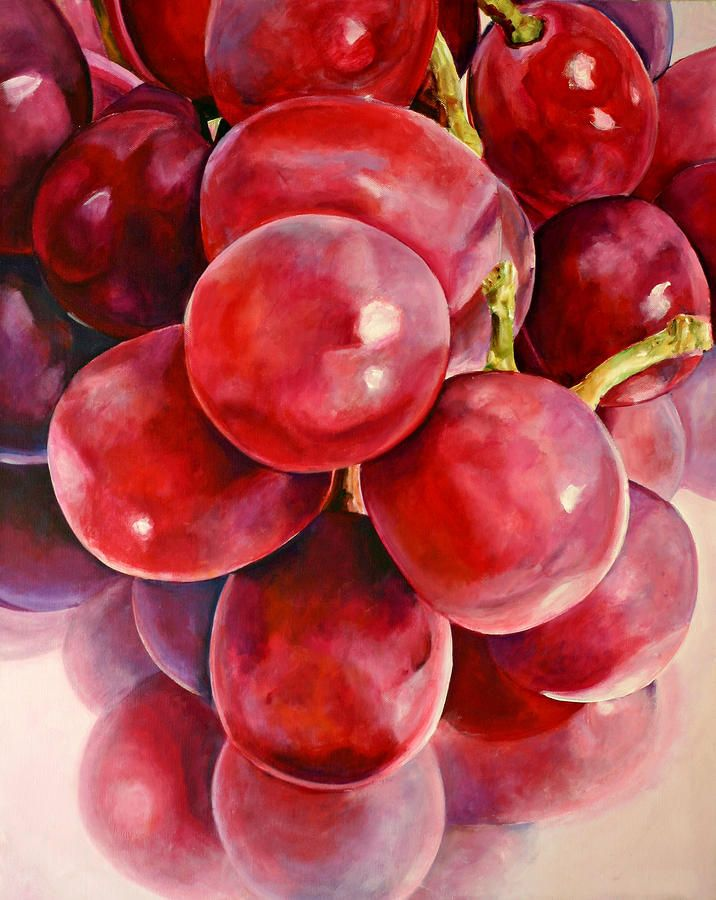 Red Grape Reflections Painting  - Red Grape Reflections Fine Art Print