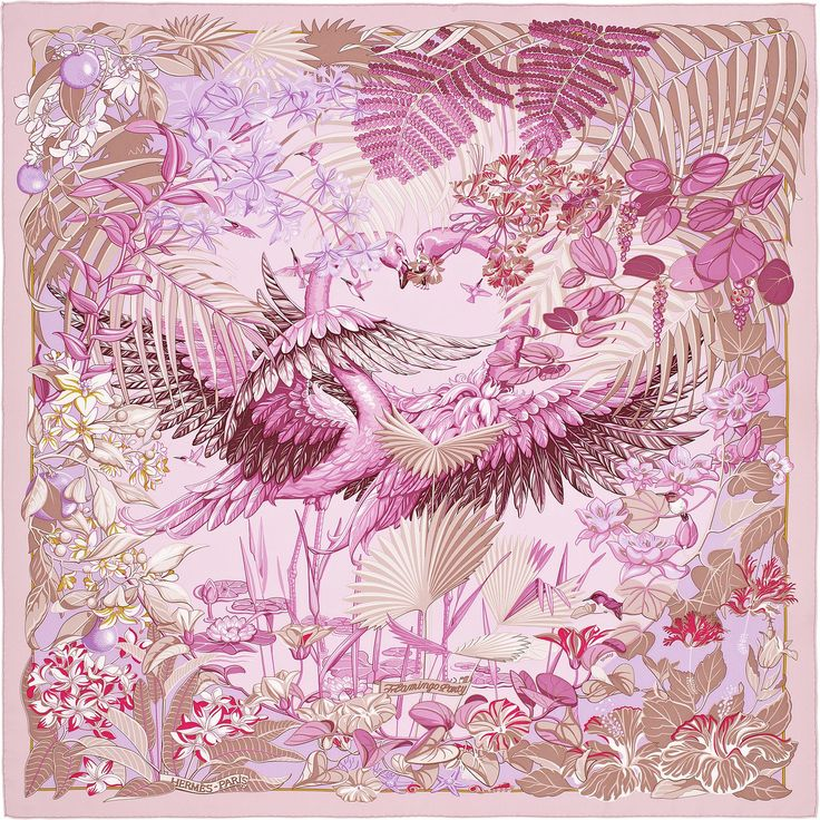 Scarf 90 Hermès | Flamingo Party