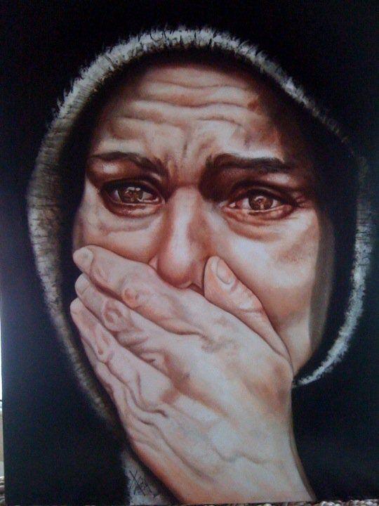 "Passion of Jesus art | NO MORE,"" THE PASSION OF CHRIST, Nelia Ferreira."