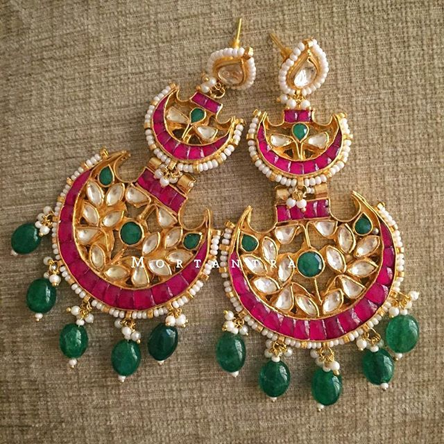 We just cant get enough of these beauties that we are posting in our #chandbaliexhibition. One more double chand  #mortantra #chandbaliexhibition #chandbalis