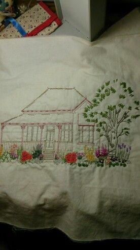 Garden designed by me the house was a print