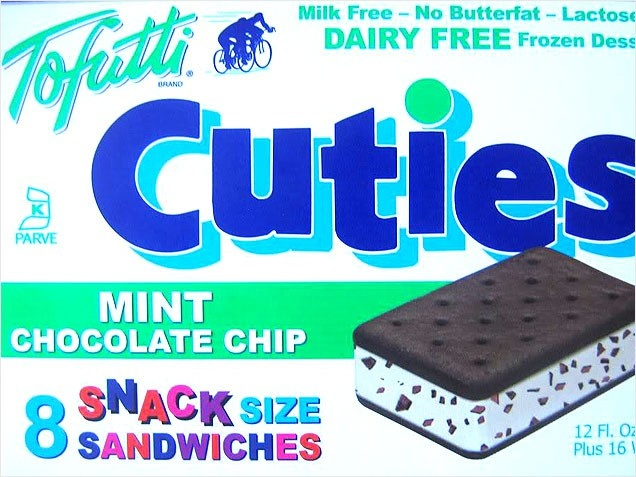 Satisfy Your Sweet Tooth: Dairy-Free Frozen Desserts  Look for dairy-free frozen desserts a great alternative to ice cream. We just love the mint chocolate chip flavor from Tofutti Cuties!        Nutritional information for one frozen dessert: 130 calories, 2g protein, 6g fat, 10g sugar, 0 fiber.