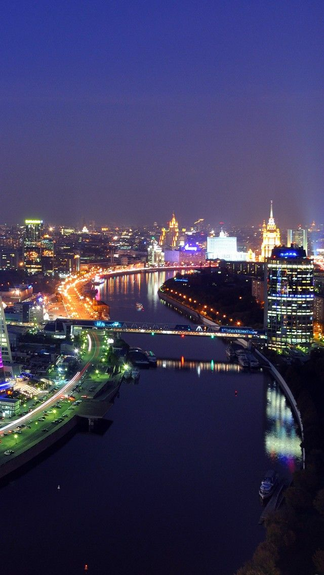City District Moscow iPhone 5 wallpapers, backgrounds, 640 x 1136