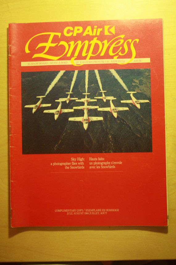 Check out this item in my Etsy shop https://www.etsy.com/listing/287419297/cp-air-inflight-magazine-1984