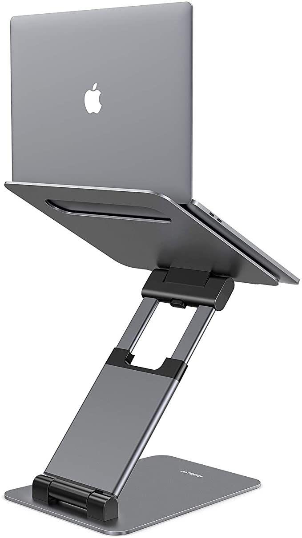 Amazon Com Nulaxy Laptop Stand Ergonomic Sit To Stand Laptop Holder Convertor Adjustable Height From 2 1 Laptop Stand Tablet Laptop Adjustable Computer Desk