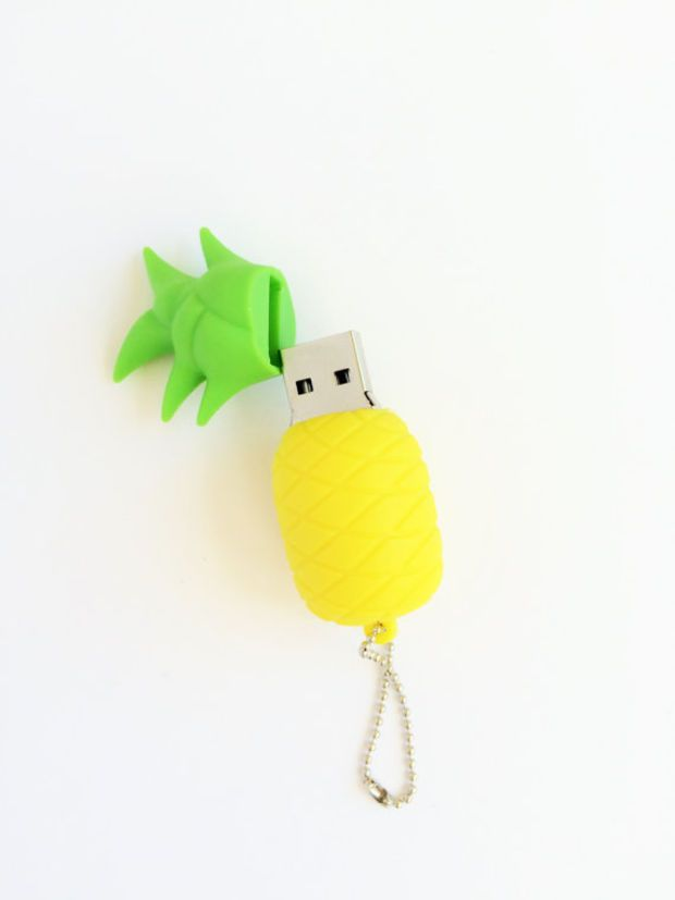 Top saved USB: 8 GB Pineapple flash drive.