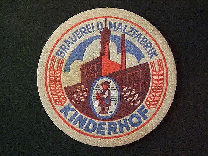 Подставка под пиво Kinderhof Gerdauen, ок. 1930 года.
