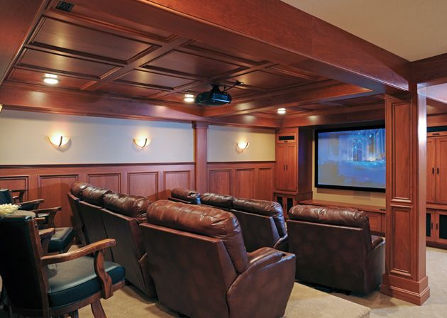 Delightful We Love This Home Theater Design From @gdremodeling The Wood Gives It A  High  Pictures