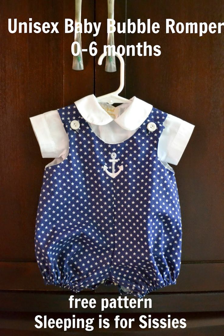 Sleeping is for Sissies: Pattern and Tutorial: Unisex Bubble Romper, Size 0-6 months