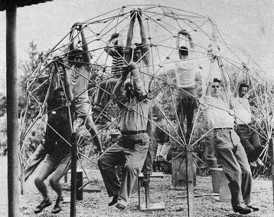 Buckminster Fuller's first geodesic dome at Black Mountain College