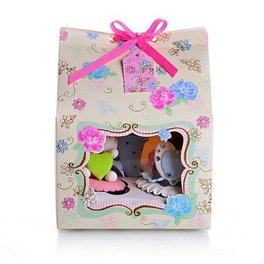 Цветочные карты Бумага Кекс благоволят к коробке с луком - Набор 12 – RUB p. 630,23