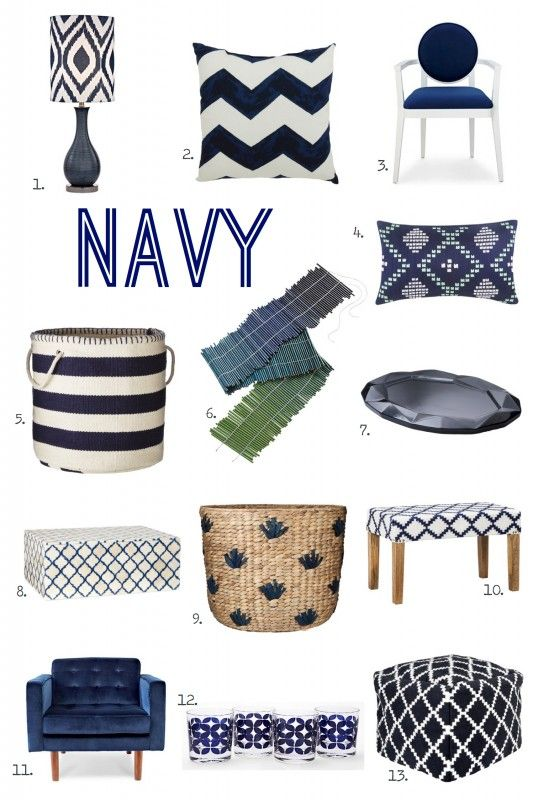For the Love of Color: Navy from @Michael Wurm, Jr. | inspiredbycharm.com | Get the full post on our Style Spotters blog: http://www.bhg.com/blogs/better-homes-and-gardens-style-blog/2014/04/28/8012/