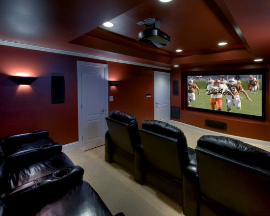 73 best theater rooms images on pinterest home theaters for Basement theater room