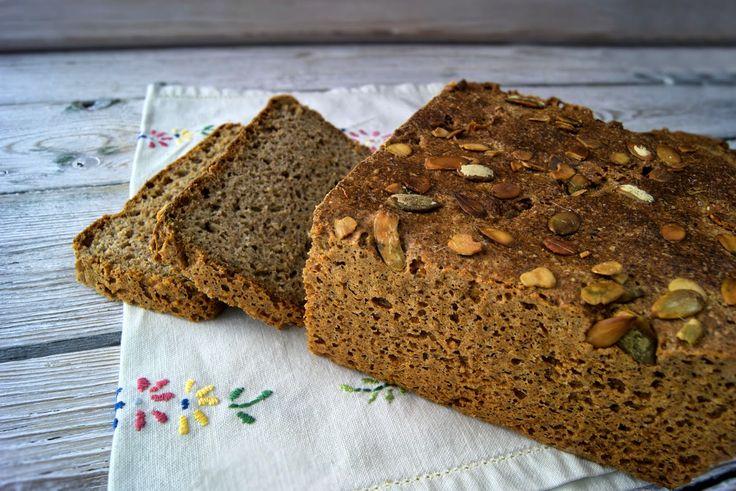 szczypta smaQ: Chleb z mielonymi ziarnami - gryka, jagła, len, dy...