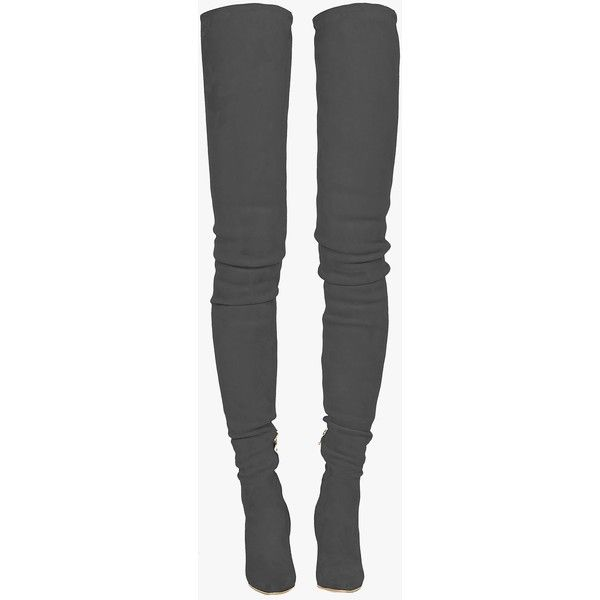 Catherine suede over-the-knee boots | Women's shoes | Balmain ($3,060) ❤ liked on Polyvore featuring shoes, boots, suede boots, above knee boots, suede thigh-high boots, thigh high boots and over the knee suede boots