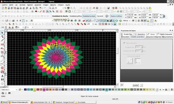 Editando en wilcom matrices para posterior bordado!!!