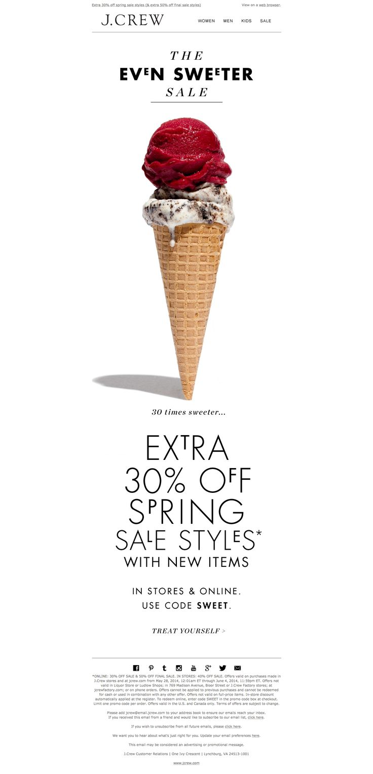 J. Crew Sale Email