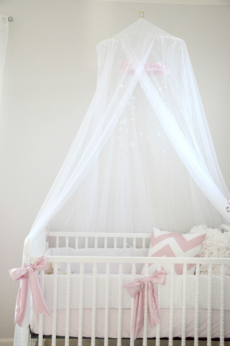 Best 25 canopy over crib ideas on pinterest baby room for Drapes over crib