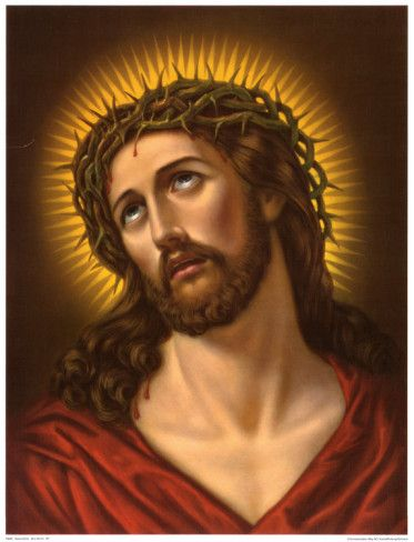 Image for prayer cards --- Ecce Homo (Behold the Man)