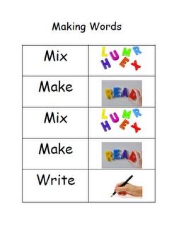 Sight Word Practice - Mix, Make, Write
