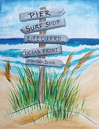 Social Artworking Canvas Painting Design - Beach, This Way!