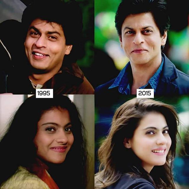 Aww...they're still adorable together... #kajol #shahrukhkhan #srkajol #dilwale18dec #dilwale #ddlj