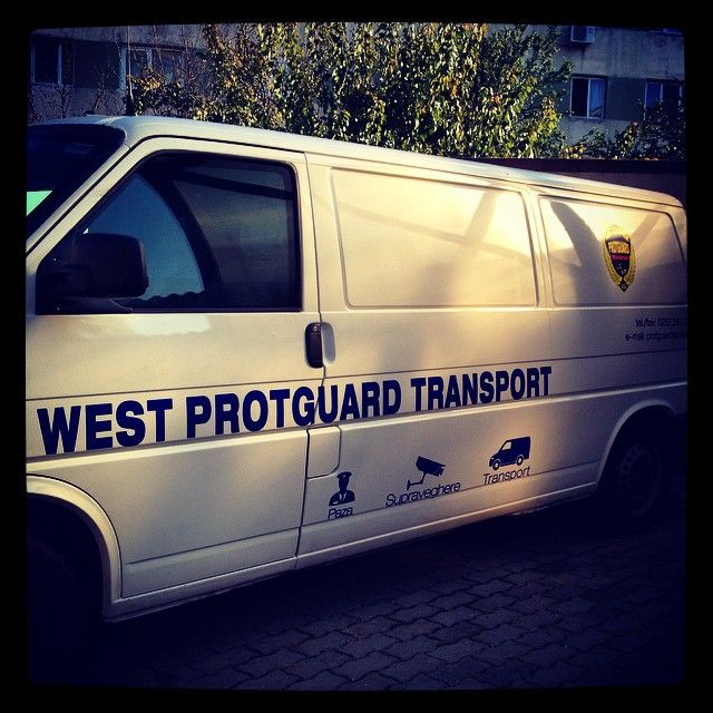 Branding six utility vans for a regional security agency