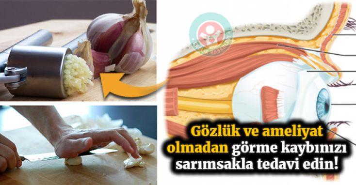 Gözlük ve cerrahi müdahale olmadan görme kaybınızı sarımsakla geri döndürün.. #sağlık #sağlıkhaberleri #garlic