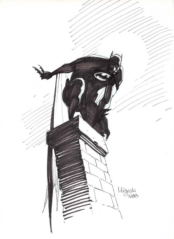 Image detail for -Mike Mignola Batman, in Mark Sanderson's Comics Shmomics Comic Art ...