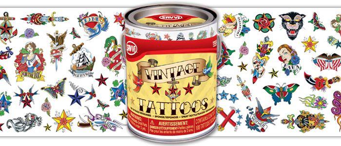 Vintage style temporary tattoos ~ rockabilly shoot