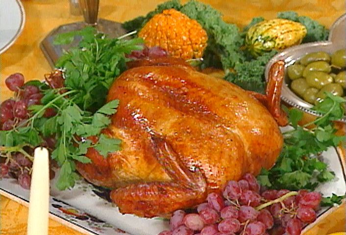 Get this all-star, easy-to-follow Brined and Roasted Turkey recipe from Emeril Lagasse.