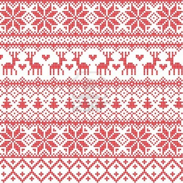 Illustrated Traditional Red Nordic Pattern Royalty Free Cliparts, Vectors, And Stock Illustration. Image 11545311.