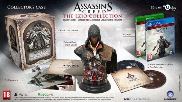La coleccionista de #AssassinsCreed #TheEzioCollection incluirá un busto de Ezio