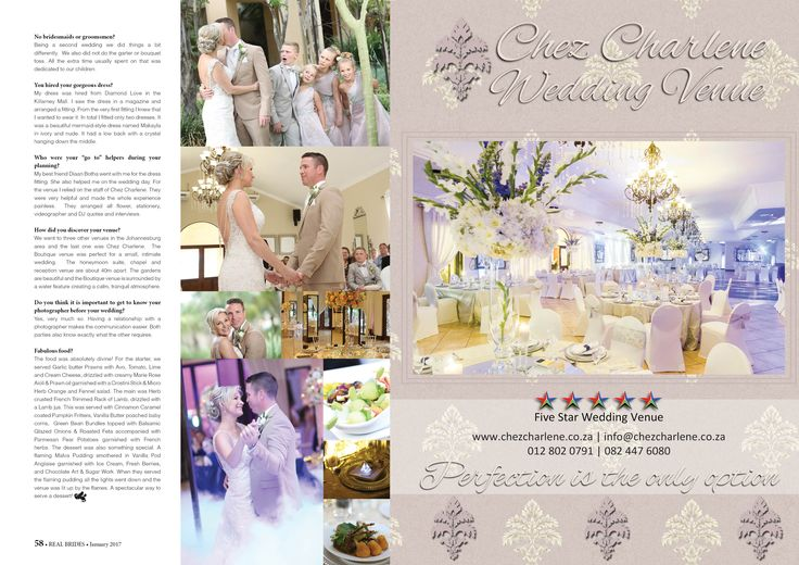 Chez Charlene 5 Star Wedding Venue - Pretoria East - Gauteng - www.chezcharlene.co.za - Real Brides January 2017
