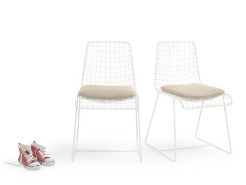 Our Seriously Cool Geronimo White Chair, Hand Welded The Old Fashioned Way  By Our Skilled
