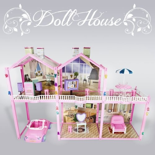 126 Pcs Large Dollhouse House Pretend Condo 2 Story 3