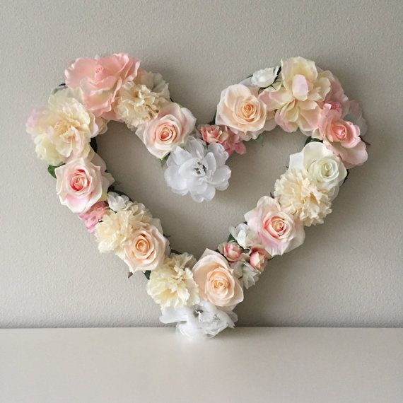 Cuore decorazione cuore floreale cuore Wall Decor giorno di