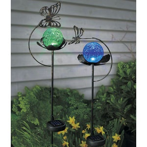 solar butterfly garden globe dream home pinterest garden globes gardens and yard ideas. Black Bedroom Furniture Sets. Home Design Ideas