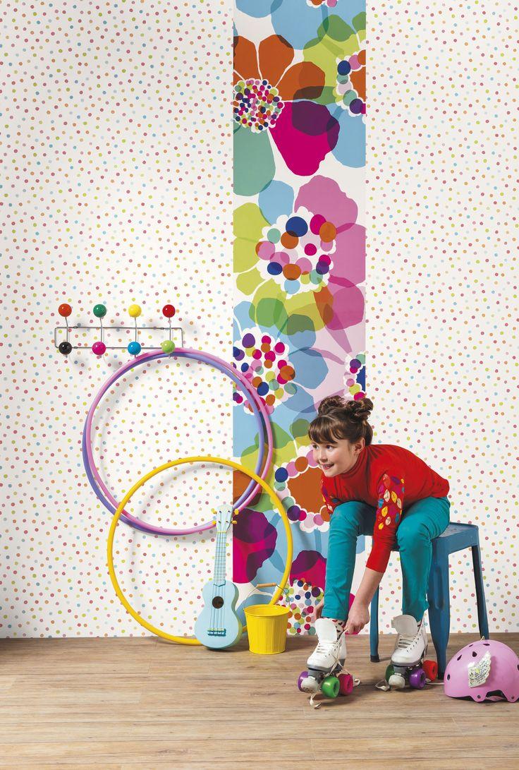 CASELIO - collection papiers peints, frises, tissus, stickers & panoramiques OH LA LA - ambiance POP - 66255049 & 66405042