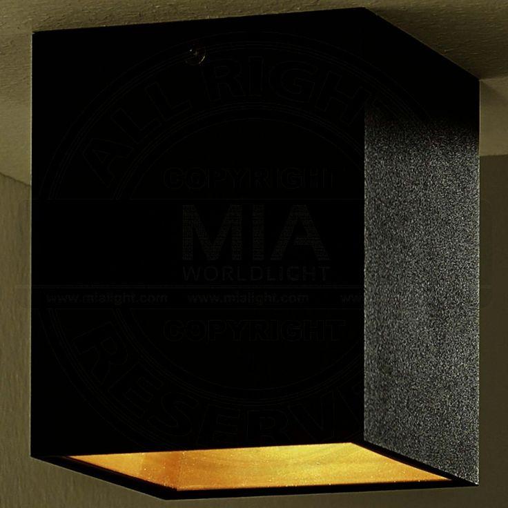 Shop Decken Aufbau Strahler LED Modern Schwarz Golden Leuchte Lampe Spot