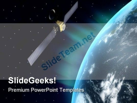 Satellite Globe PowerPoint Templates And PowerPoint Backgrounds 0611  Presentation Themes and Graphics Slide01