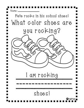 Pete The Cat Rocking In My School Shoes Coloring Sheet Coloring Pages