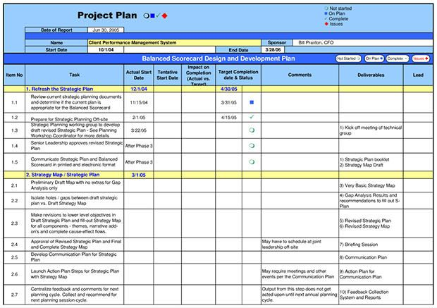 sample project template