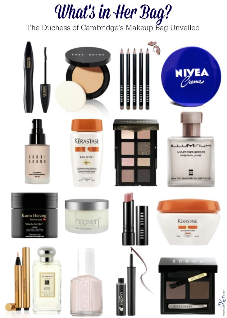 We look into all the brands that make it into Kate's makeup bag: Jo Malone, Laura Mercier, Bobbi Brown, Lancome, Karin Herzog, Bee Venom and more